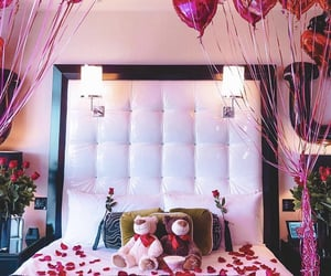 baloons, hotel room, and photo image