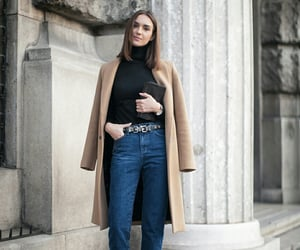 book, winter looks, and jeans image