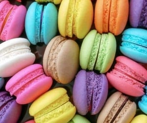 ‎macarons, food, and sweet image