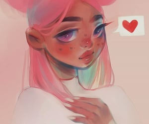 art, girl, and pastel image
