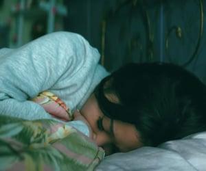 girl, ps i love you, and sleeping image