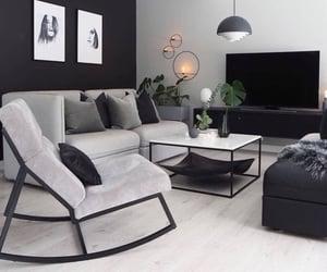 black, livingroom, and white image
