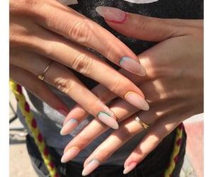 almond nailart&rings image