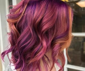 wavy hair and sunrise hair color image
