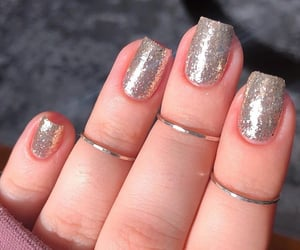 gorgeous, silver nails, and nails image