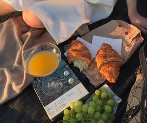 aesthetic, food, and book image