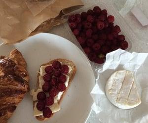 croissant, food, and raspberries image