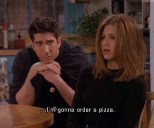 friends, pizza, and quotes image