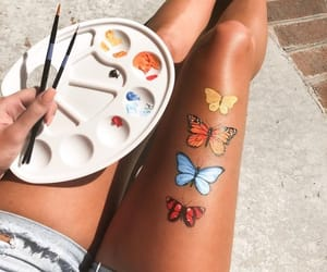 butterfly, art, and colors image
