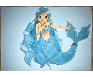 anime, art, and mermaid melody image