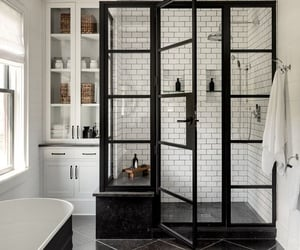 bathroom, black, and home image