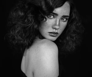 beautiful, freckles, and hair image