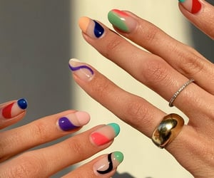 beautiful, nails, and colours image