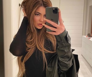 brown, long hair, and jenner image
