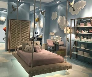 bedroom, blue, and children image