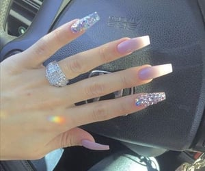 manos, mujer, and nails image