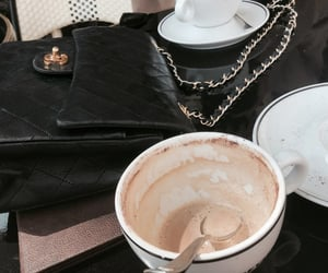 chanel, coffee, and cafe image