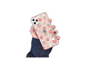 case, iphone, and peach image