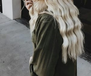 blonde, girl, and curly image