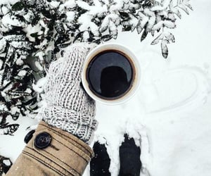 coffee, photography, and snow image