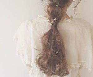 braids, poetic, and brown hair image