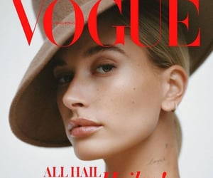 cover, vogue, and hailey baldwin image