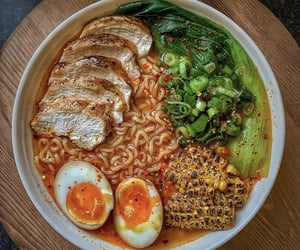 boiled, eggs, and ramen image