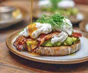 avocado, bread, and egg image