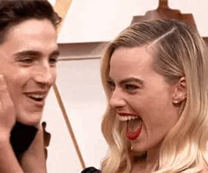 gif, margot robbie, and timothee chalamet image