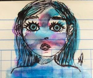 art, girl, and sad image