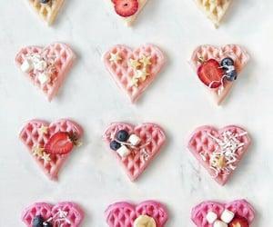 pink, yummy, and waffel image