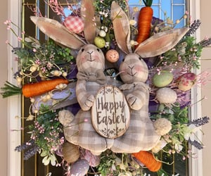carrots, easter bunny, and bunny wreath image