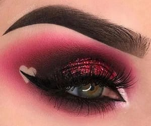makeup, pink, and valentine image