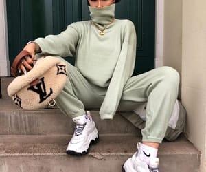blogger, prada sneakers, and louis vuitton belt bag image