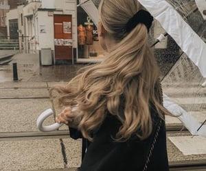 hair, rain, and blonde image