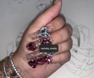 nails, cute nails, and clear nails image
