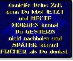deutsch, heute, and später image