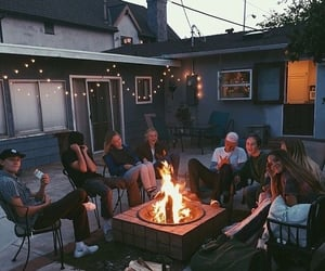 americans, bonfire, and teenagers image