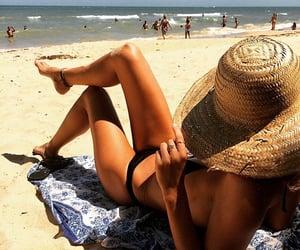 bikini, abs, and beach image