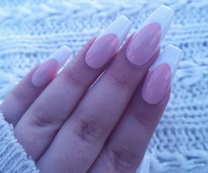 beauty, pink nails, and brows image