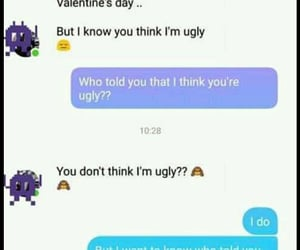 chat, ugly, and valentines day image