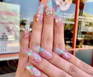 beauty, glitter, and nail style image