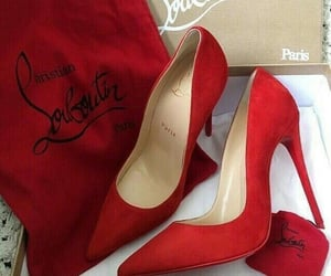 red, shoes, and style image