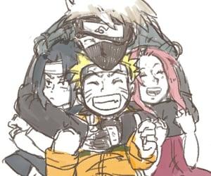 naruto, team 7, and kakashi hatake image