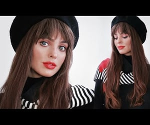 bangs, beauty, and french girl image