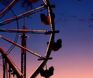 carnival, fair, and sunset image