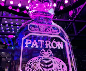 ice sculpture, neon, and patron image