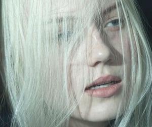 pale, white hair, and hair image