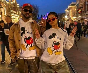 black, couple, and mickey image
