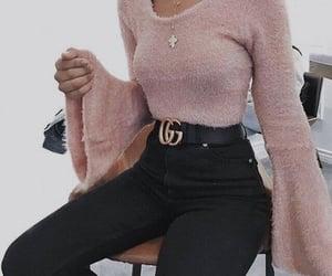 negro, pantalon, and rosa image